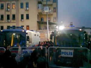 kafkaeskes Gerichtsgebäude beim Devrimci Karagah Prozess in der Türkei