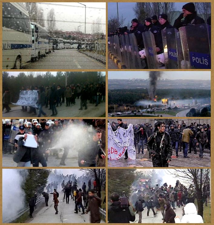 Verschiedene Bilder der Demo in Ankara